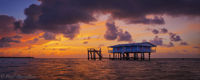 Stiltsville Sunrise print