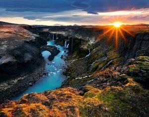 Sigglj, Iceland, waterfalls, canyon, water, river, landscape, limited edition, sunstar,Sig
