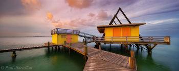 a-frame, stiltsville, biscayne national park, florida, miami, house, sunset, key biscayne, nature, photography