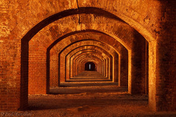 ft. jefferson, dry tortugas, arches, hallway, brick, fort jefferson, arches, florida, south florida, nature, photography,