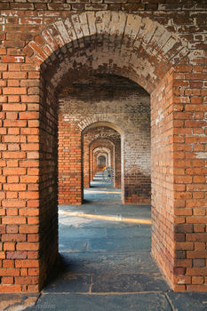 ft. jefferson, brick, hallway, arch, dry tortugas, florida, fort jefferson, keys, south florida, nature, photography,