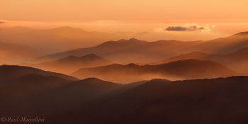 Clingman's Dome, Great Smoky Mountains National Park, Tennessee, sunset
