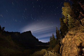 Sangre de Cristo Mountains, Colorado, crestone needle, stars