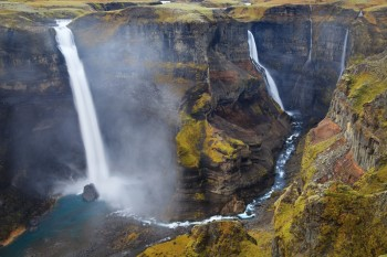 iceland, europe, nordic, Haifoss, waterfall, canyon