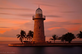 boca chita, palm, sunset, clouds, lighthouse, biscayne national park, florida, south florida, nature, photography