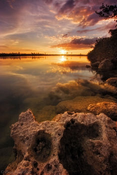 sunset, everglades, lake, reflection, Florida, nature, photography, florida national parks