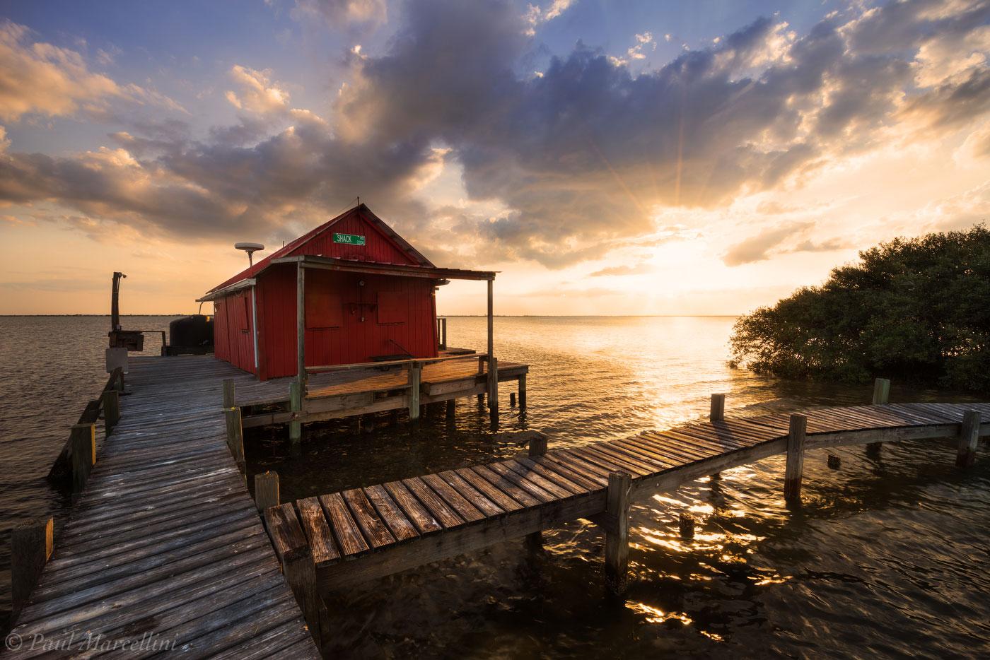 red shack, pine island sound, florida, southwest, stilts, sunset, nature, photography, photo