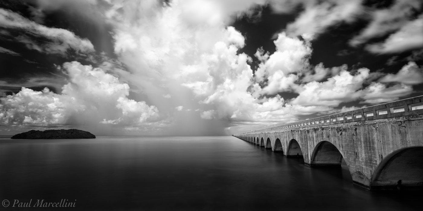 seven mile bridge, florida keys, storm, florida, nature, photography, photo