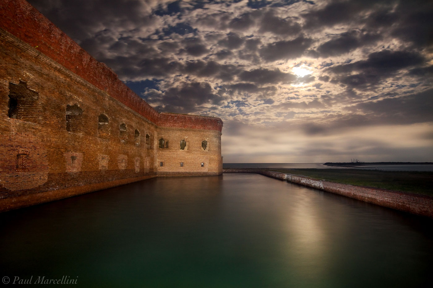 ft. jefferson, dry tortugas, moon, fort jefferson, florida, south florida, nature, photography, , photo