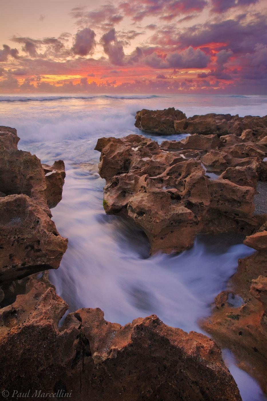 anastasia formation, coral cove, waves, sunrise, atlantic ocean, jupiter, florida, south florida, nature, photography, , photo