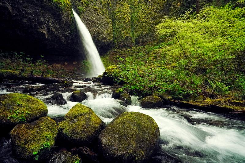 Columbia, River, Gorge, Oregon, ponytail falls, waterfall, spring, photo