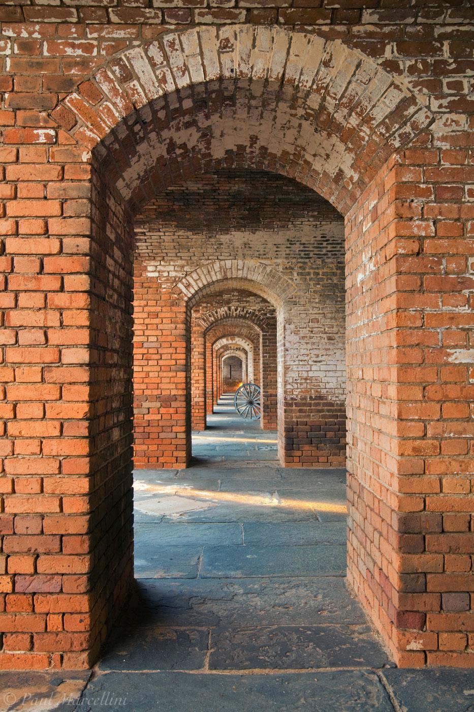 ft. jefferson, brick, hallway, arch, dry tortugas, florida, fort jefferson, keys, south florida, nature, photography,, photo