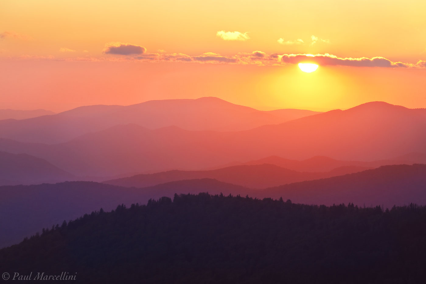 Great Smoky Mountains National Park, Tennessee, clingmans dome, sunset, photo