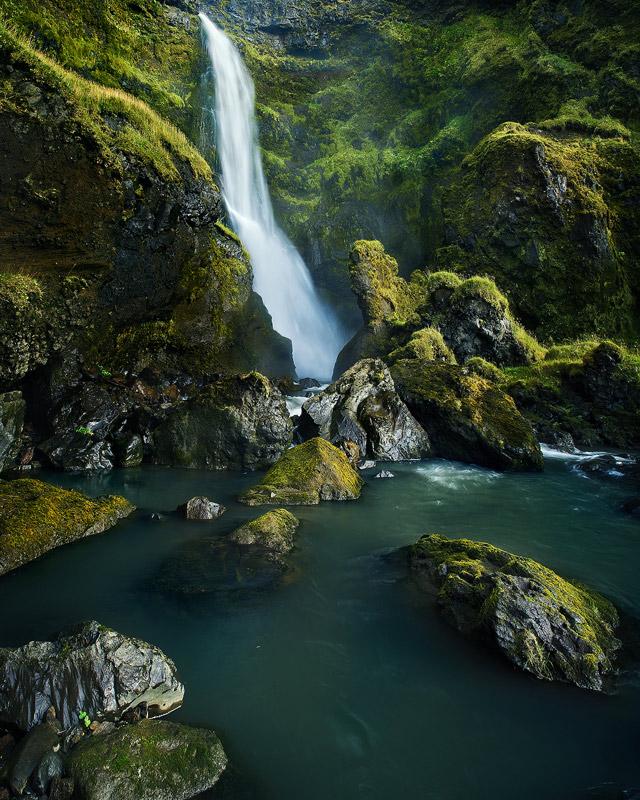 waterfall, iceland, vik, photo
