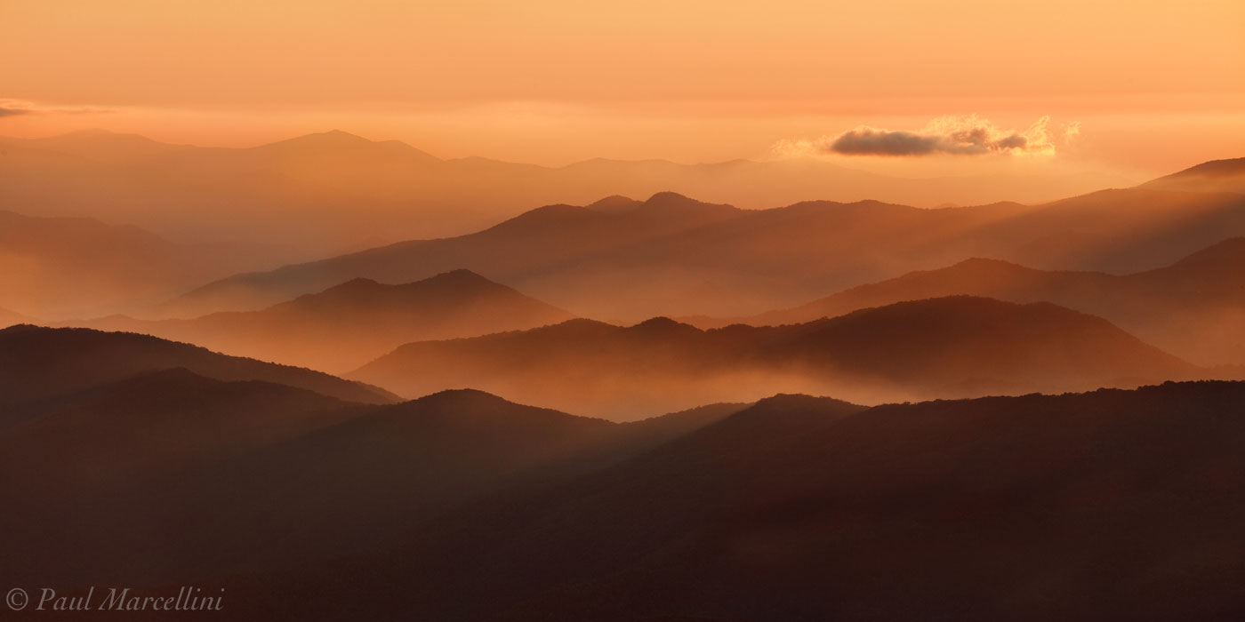 Clingman's Dome, Great Smoky Mountains National Park, Tennessee, sunset, photo
