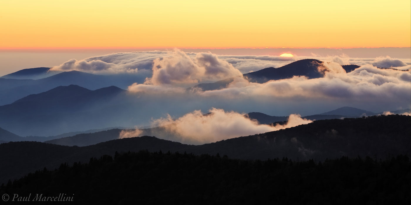 Clingman's Dome, Great Smoky Mountains National Park, Tennessee, sunset, appalachian mountains, photo