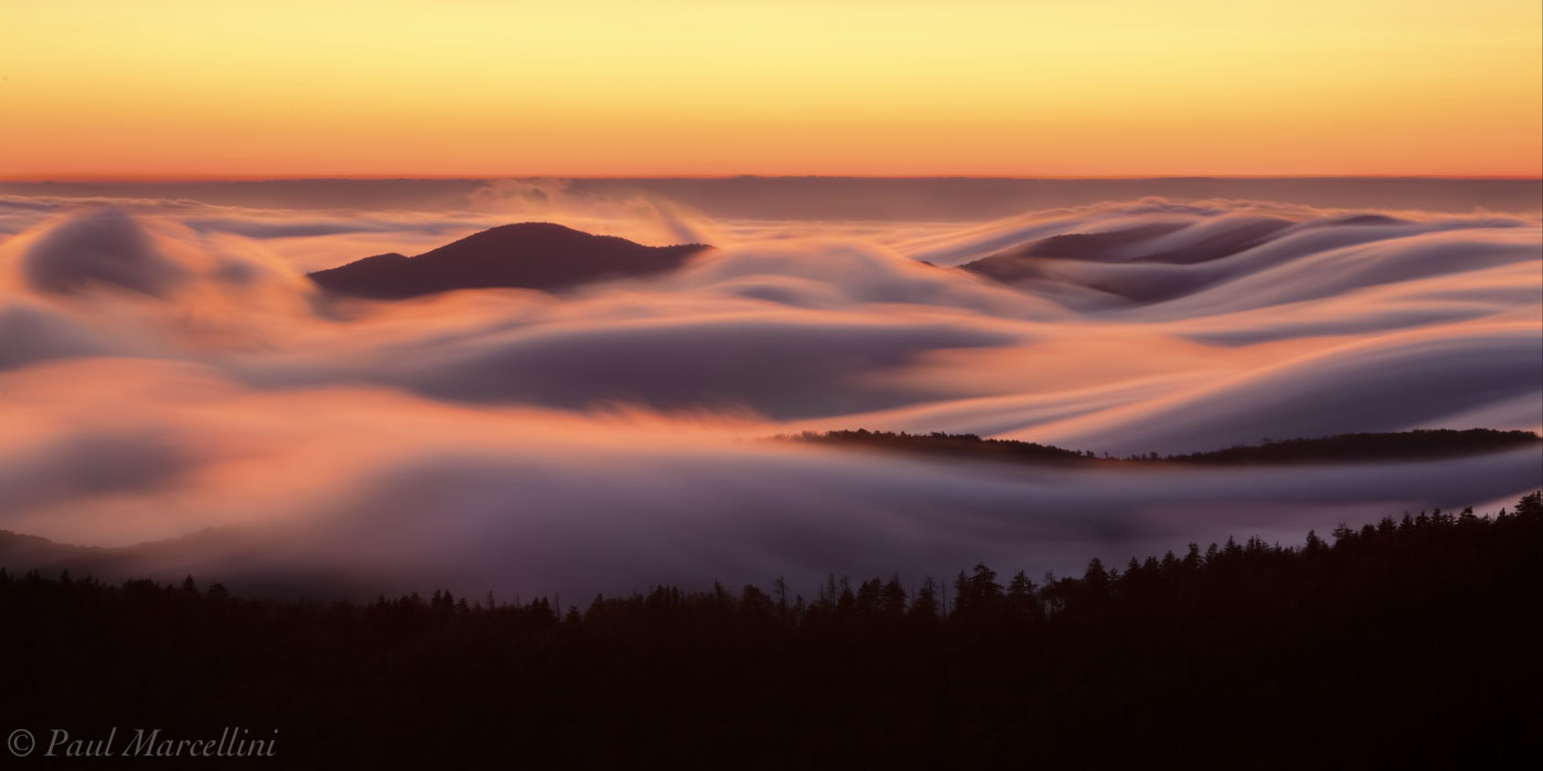 Great Smoky Mountains National Park, Tennessee, smokies, clouds, sunset, photo