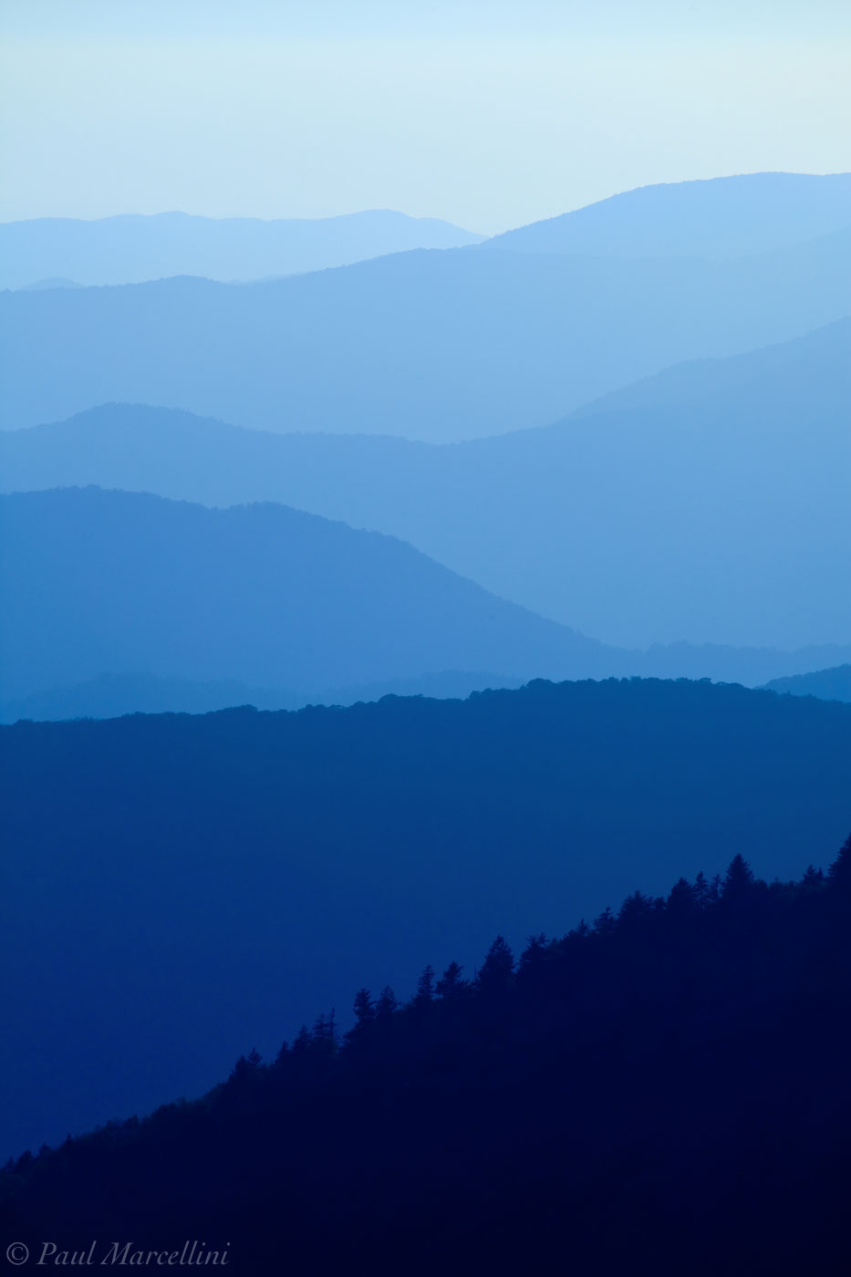 Great Smoky Mountains National Park, Tennessee, layers, appalachian, photo