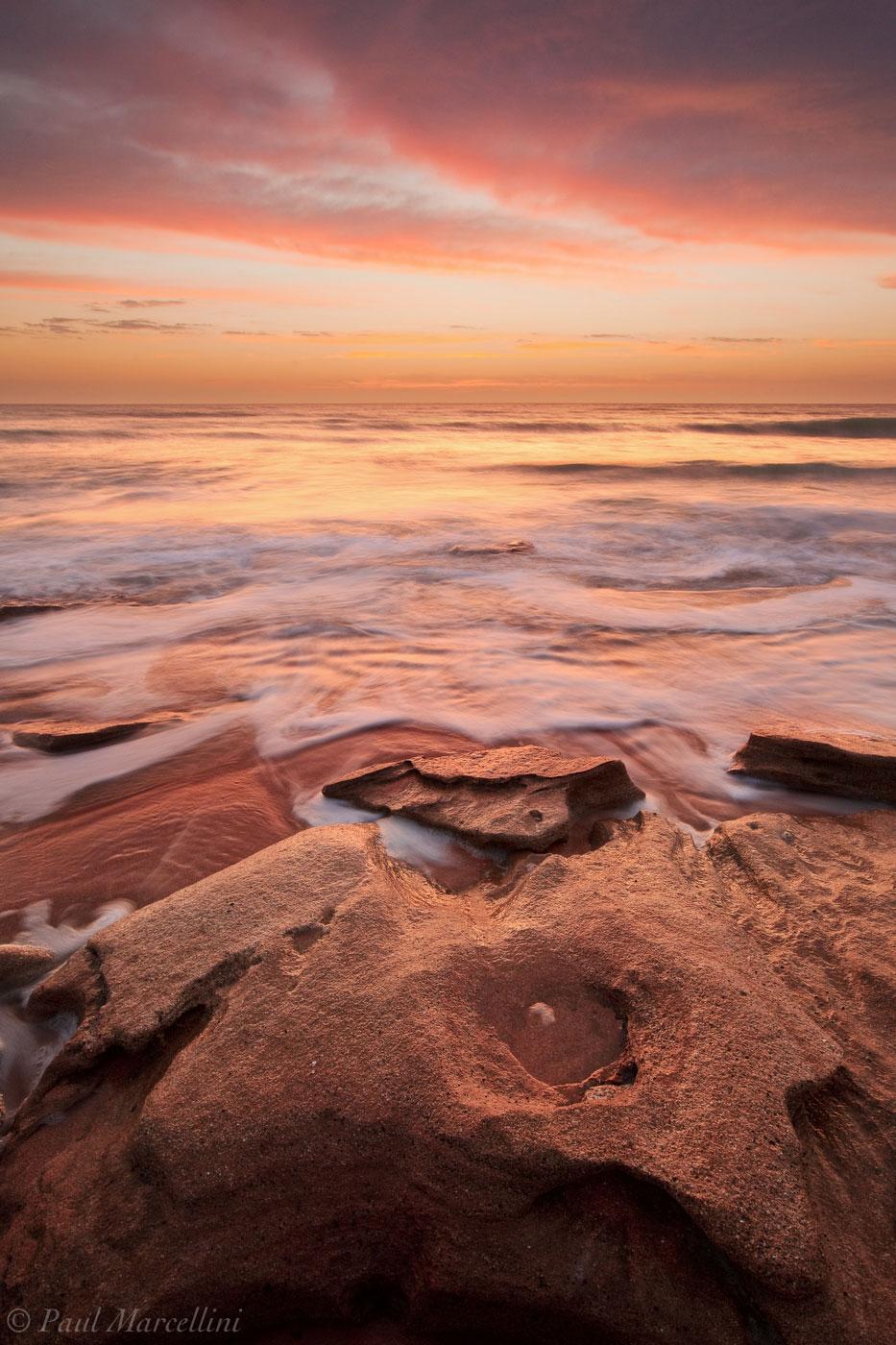 washington oaks state park, florida, sunrise, shoreline, anastasia formation, north florida, nature, photography, photo