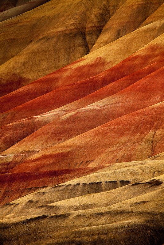 An intimate image of the Painted Hills in Oregon.