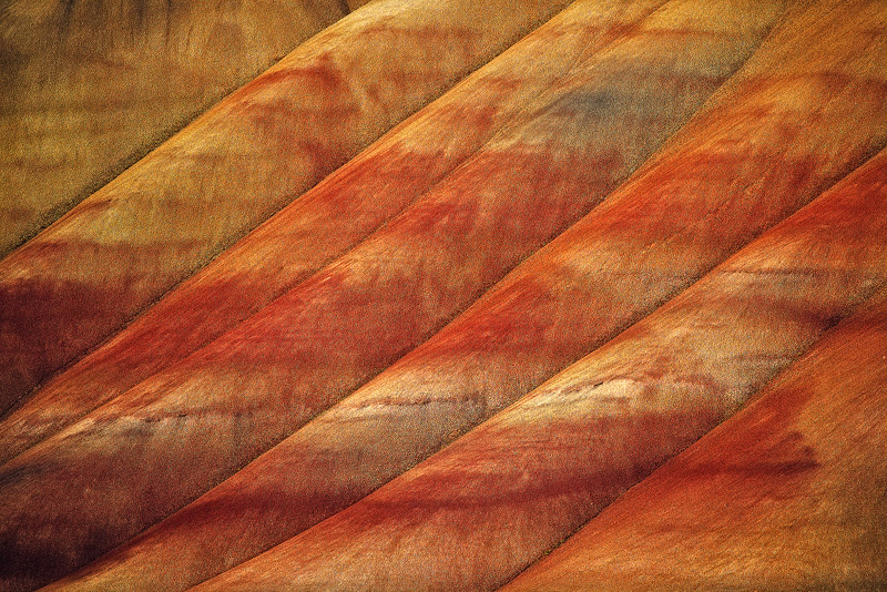 Painted Hills, John Day Fossil Beds, Oregon, lines, photo