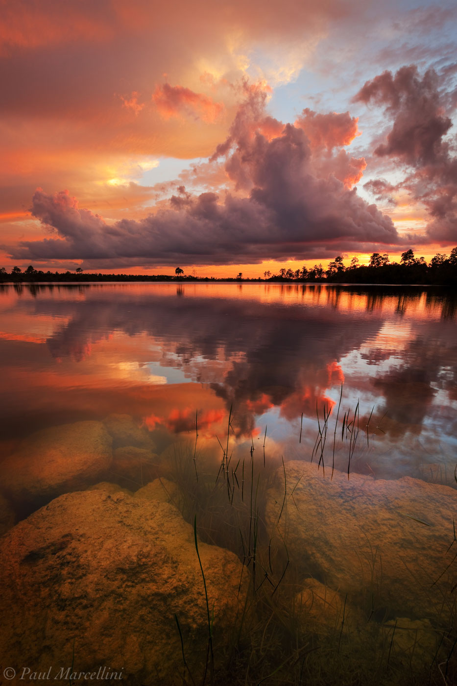 A fiery sunset over a favorite spot in the Everglades.
