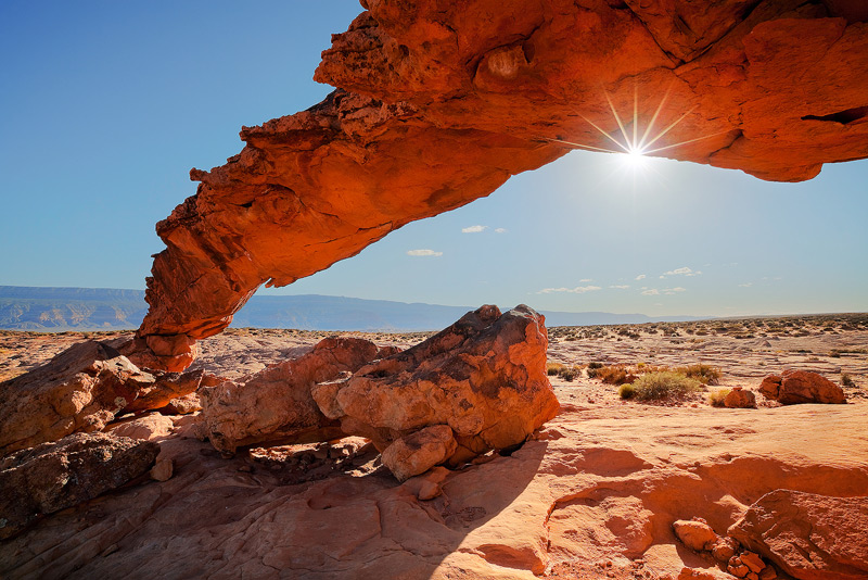 Sunset Arch Grand Staircase Escalante Utah Florida Landscape