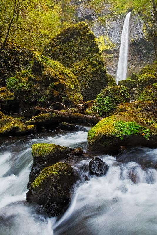 elowah falls, columbia river gorge, oregon, photo