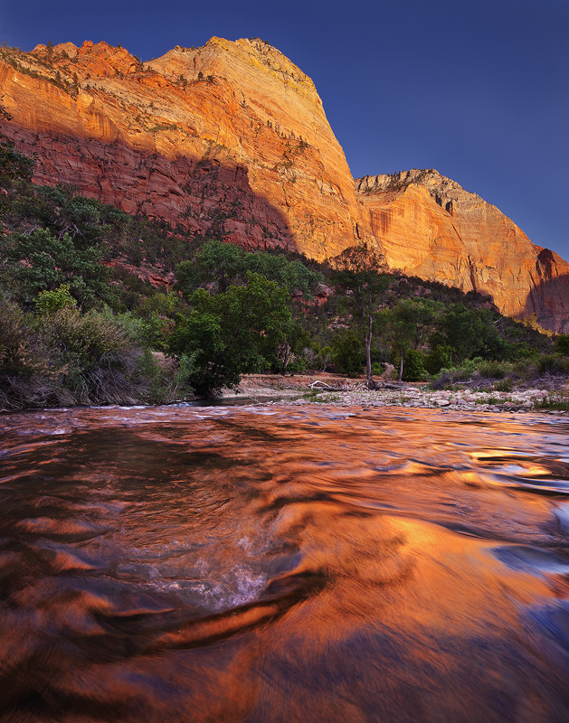 Zion, National Park, Utah, river, photo