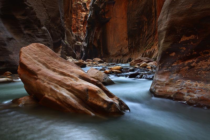 Virgin River Narrows, Zion, National Park, Utah, photo