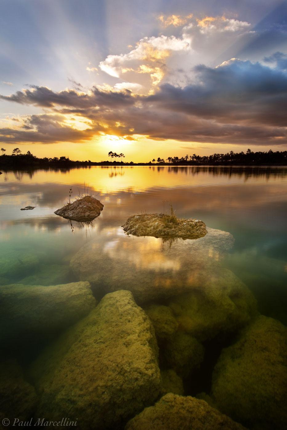 everglades, sunset, lake, pine, Florida, nature, photography, florida national parks, photo
