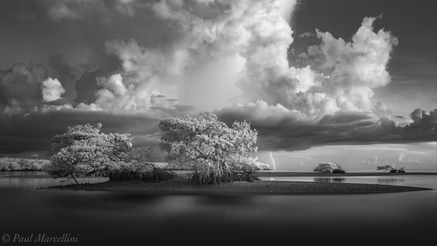 Everglades National Park, Florida, mangroves, lightning, storm, photo
