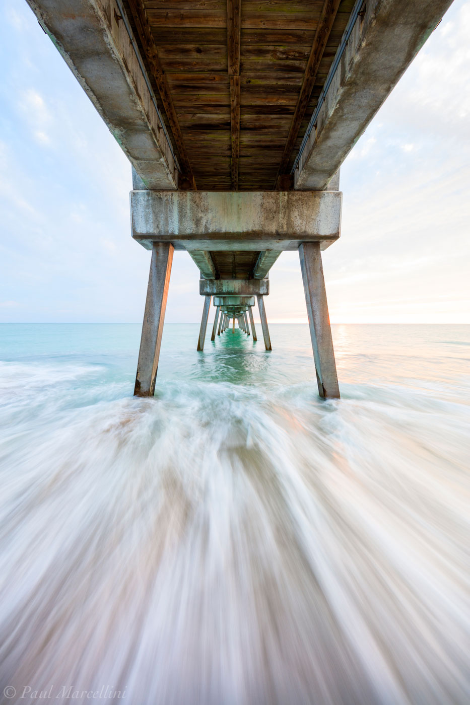 vero beach, florida, sunrise, beach, pier, , photo
